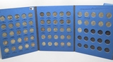 Whitman Roosevelt Dime Album, 50 Silver Coins, 1946-1964D, dt/mm unchecked, some better grade, some