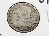 Capped Bust Quarter 1832 VG rev scratches