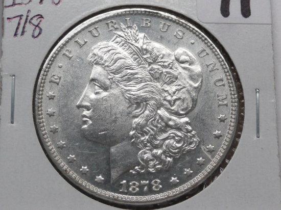 Morgan $ 1878 7/8TF BU