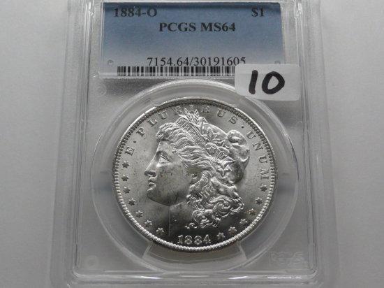 Morgan $ 1884-O PCGS MS64