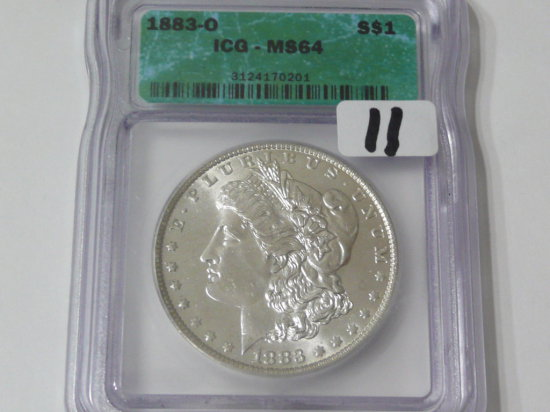 Morgan $ 1883-O ICG MS64