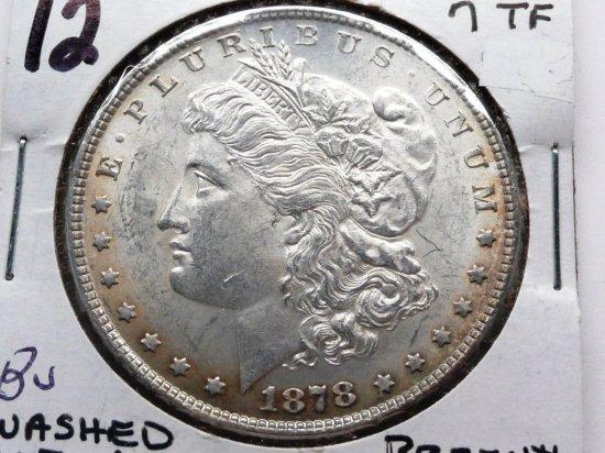 Morgan $ 1878 7TF VAM84 (washed out L) BU