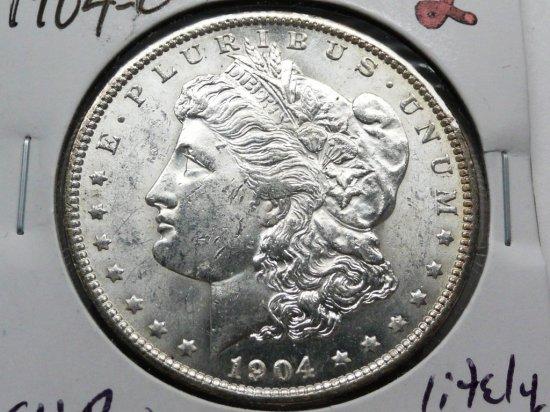 Morgan $ 1904-O CH BU lightly toned