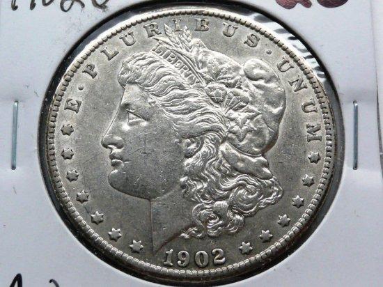 Morgan $ 1902S AU, better date