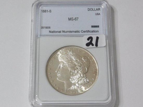 Morgan $ 1881S NNC MS67
