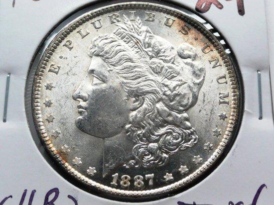 Morgan $ 1887 CH BU toned