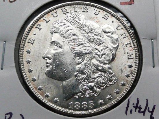 Morgan $ 1885 BU lightly toned