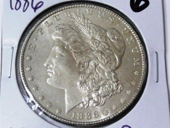 Morgan $ 1886 CH BU PL