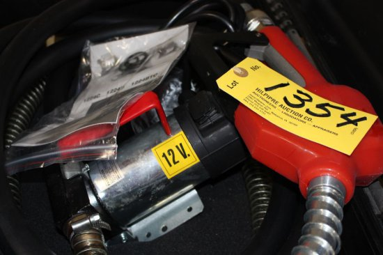 Battery fuel pump in case, 12 v.