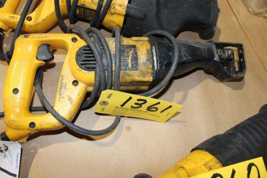 (2) DeWalt DW311 VW reciprocal saw.