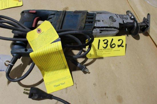Bosch reciprocal saw, needs repair.