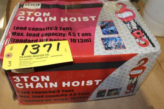 Heavy Duty 3 Ton Chain Hoist