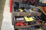 Kennedy Machinist tool box with punches, exacto-cutters, socket wrench sets