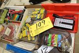Box of fuses, battery tester, etc.
