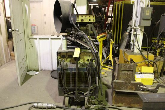 Miller DC welder power source model MP 65E, sn HJ122698,  w/Miller S54A wir