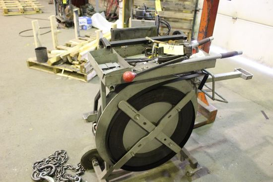 Dual roll steel banding cart, w/tools.