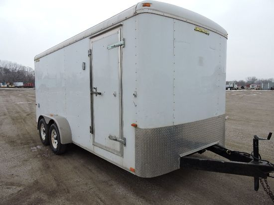 2010 Doolittle Cargomaster 7'x16' enclosed  tandem axle trailer, vin 1DGCS1