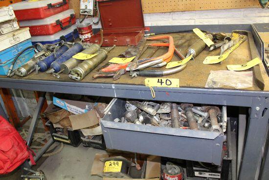 Steel work bench.