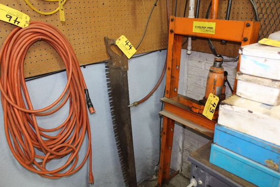 Large handsaw.