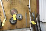 Saw blade, grinding wheels.