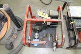 Gas powered water pump, 5 hp.