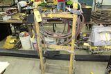 Shopmade tank cart, w/hose gauges.