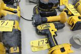 DeWalt 18 V. drill, light, saw, battery.