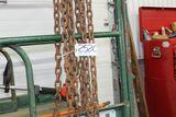 Chains, hooks.