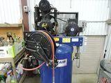 Castair vertical air compressor, model I518VC1-S, 5 hp, 208/230 v., w/hose