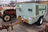 Sullair 185 portable air compressor, hrs. on meter 278,