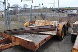 1974 Forte trandem trailer, vin 18551, flatbed, 16' x 80