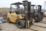 Caterpillar forklift model GPL40, sn 1CM01612, hrs. on meter 3401, 9,000 lb