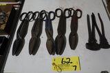 Scissors (5); Tine pliers (2).
