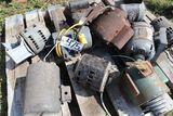 Electric motors, used.
