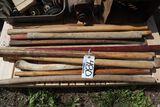 Ax, maul wood handles.