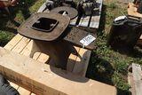 Creamer stand, stove pipe.
