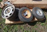 Wheel barow, trialer wheels, tires.