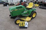 John Deere 285 lawn tractor, sn M00285A47668, hrs. on meter 423, Liquid coo