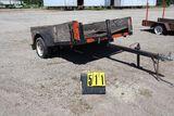 Single axle tilt bed trailer., 98