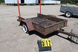 Single axle tilt bed trailer., 88