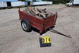 Single axle trailer, (no contents), 73