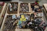 Pallet tools, bicycle parts.