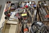 Pallet casters, drill bits, files, rivet guns, light, saw blades.