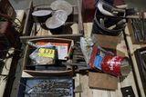 Pallet fan, brackets, tool box, brackets.