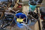 Pallet vintage tools, work light.