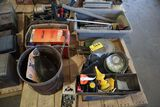 Pallet saw blades, motor oils, tire chaines.