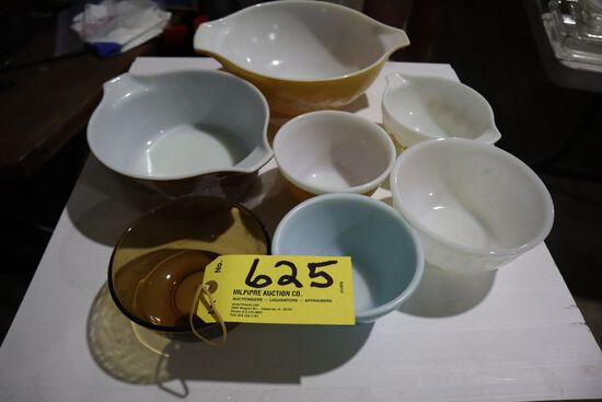 Glass bowls.