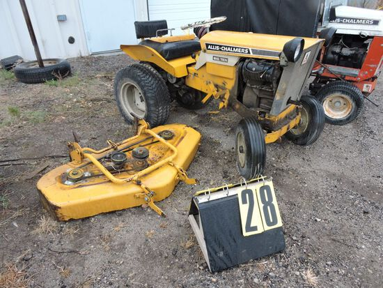 "Allis- Chalmers B-10, sn 041293, w/ 42"" mowerdeck, Condition Unknown."