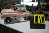 Champion pink pedal car, gear box.