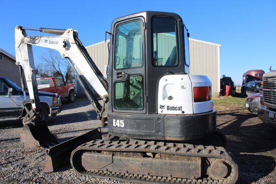2012 Bobcat model E45 compact excavator, s/n AHHC12450, hours 1949, 2- spee